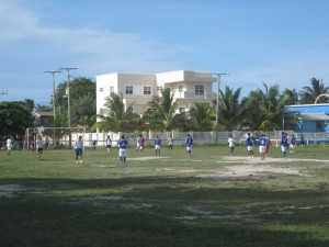 Football on Caye Caulker