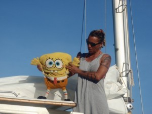 Allie and Spongebob!