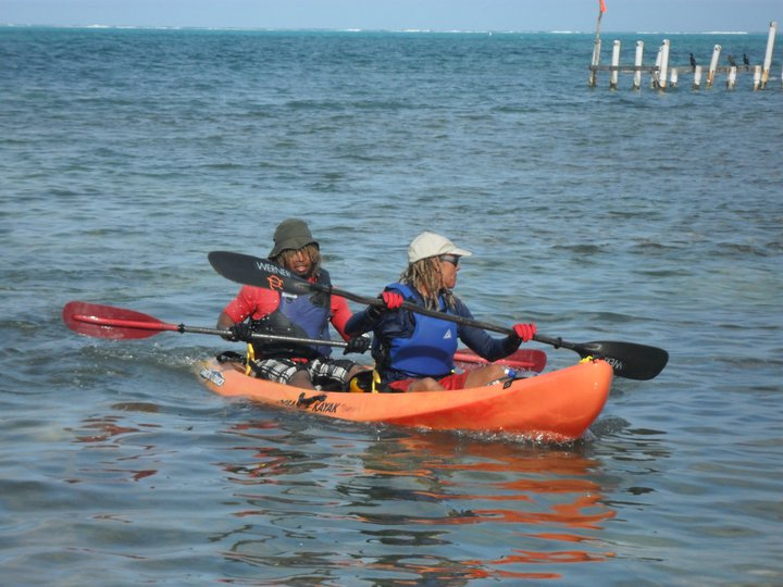 Patrick and Allie Kayaking