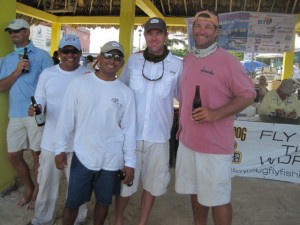 Parnell with Team Anglers Abroad - Ken, Travis and Haywood