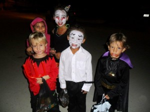 Vampire Malik (center) with his two devilish friends Finley and Addison!