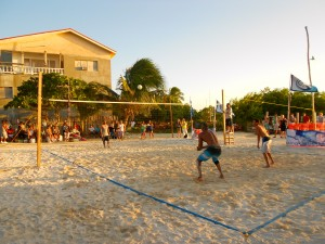 The finals at sunset!