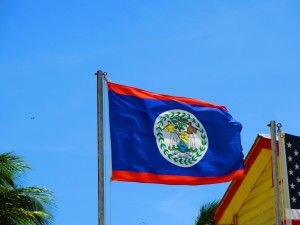 Belize's flag raised proudly in September!