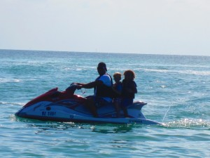 Jimmy, Finley and Malik on the Jetski!