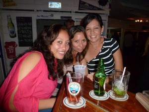 Liz (CC Plaza), Mariya (Caye Real Estate) and Alina (Island Magic)