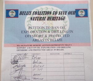 Petition against oil exploration in Belize