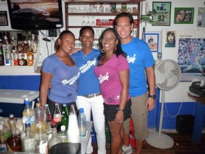 Shakira Burgess, Andrea Hinks, Dawn Joseph and Tommy Egan - Team Sports Bar