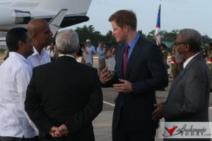 Prince Harry meets with Dean Barrow and Francis Fonseca